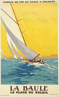 La Baule Vintage Sailing Canvas