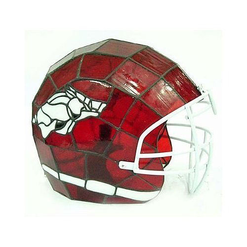 Ncaa Arkansas Razorbacks Stained Glass Football Helmet Lamp