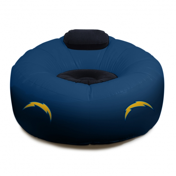 San Diego Chargers Chair: San Diego Chargers NFL Vinyl Inflatable Chair W/ Faux