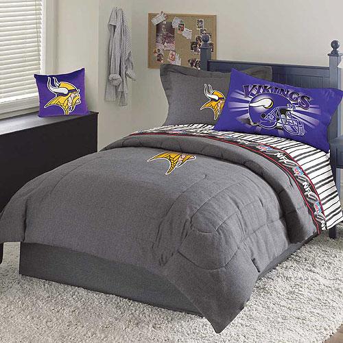 Minnesota Vikings Nfl Team Denim Twin Comforter Sheet Set