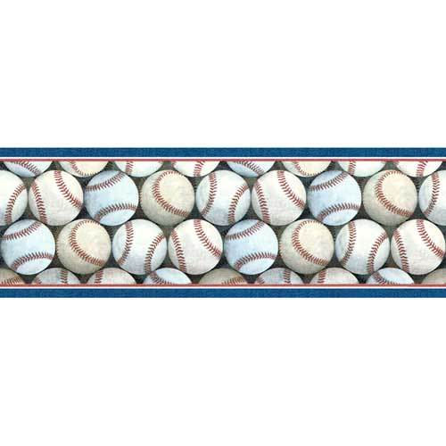 Just Baseball Wall Border Zoom
