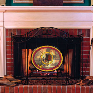 Washington Redskins Nfl Stained Glass Fireplace Screen
