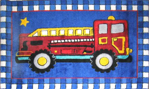 Mack Sculpted Rug Fire Truck