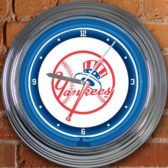 New York Yankees Mlb 15 Quot Neon Wall Clock