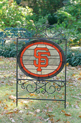 San Francisco Giants Mlb Stained Glass Outdoor Yard Sign