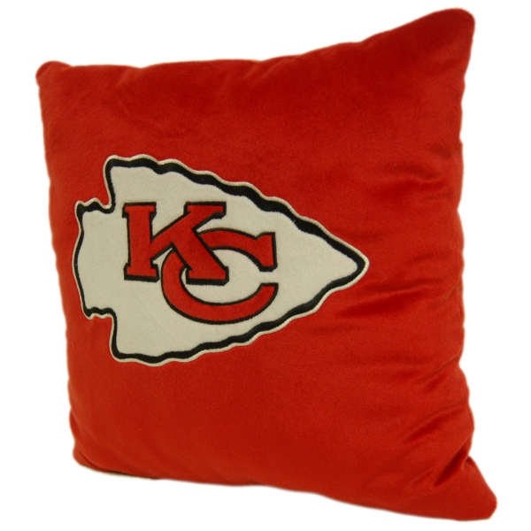 Kansas City Chiefs Nfl 16 Quot Embroidered Plush Pillow With