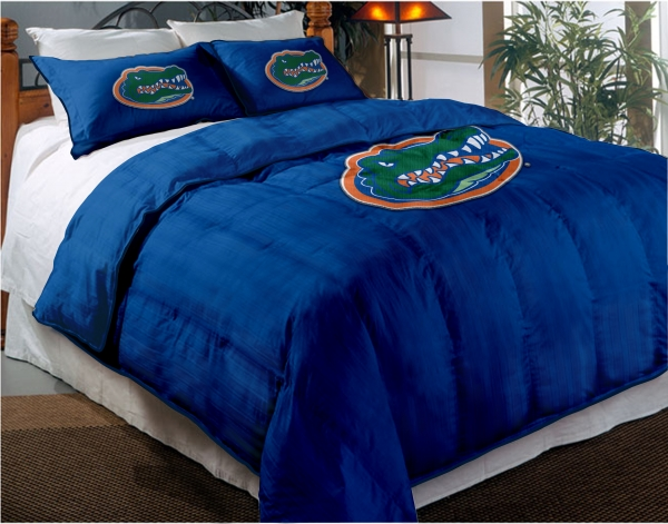 Florida Gators College Twin Chenille Embroidered Comforter Set With 2 Shams 64 X 86