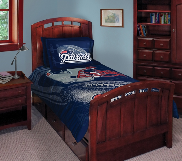 New England Patriots Nfl Twin Comforter Set 63 X 86