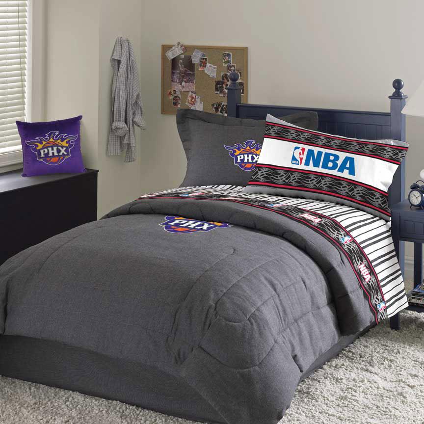 phoenix suns team denim full size nba comforter sheet set under nba ...