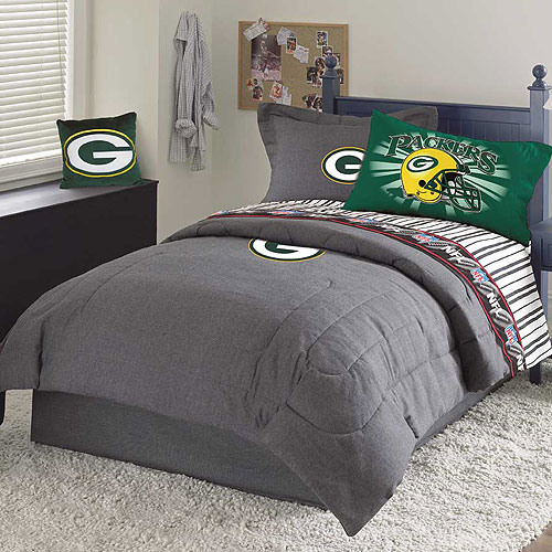 Green Bay Packers Nfl Team Denim Queen Comforter Sheet Set