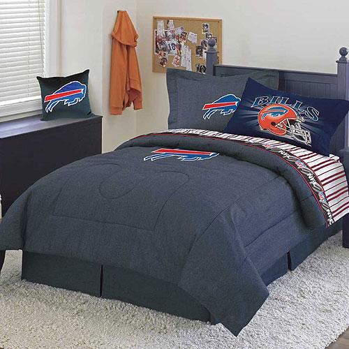 Buffalo Bills Nfl Team Denim Queen Comforter Sheet Set