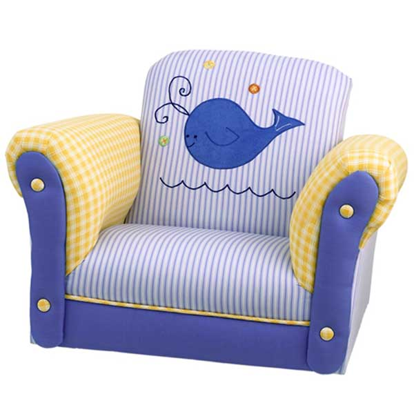 Whales Tales Upholstered Rocking Chair