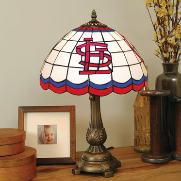 St Louis Cardinals Mlb Stained Glass Tiffany Table Lamp