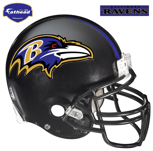 Baltimore Ravens Helmet Fathead Nfl Wall Graphic