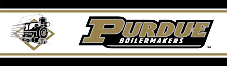 Purdue Boilermakers 5 1 4 Tall Wallpaper Border