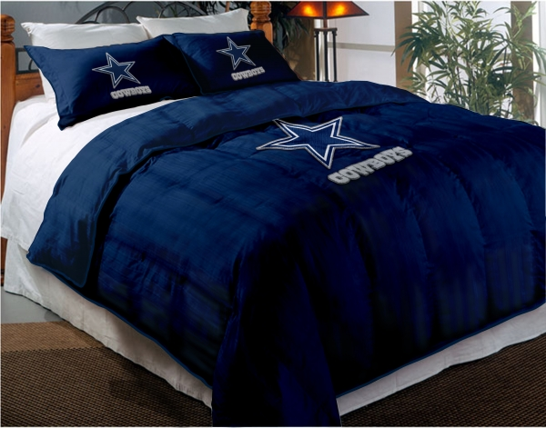 Cowboys Comforter: Dallas Cowboys NFL Twin Chenille Embroidered Comforter Set