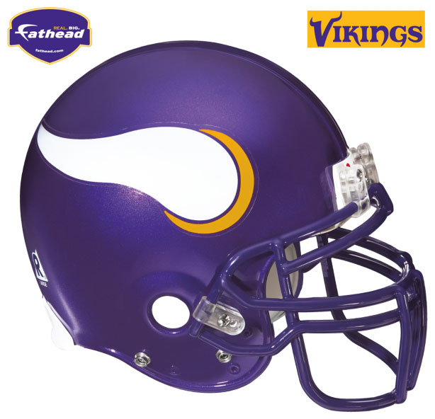 Minnesota Vikings Helmet Fathead Nfl Wall Graphic