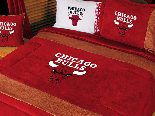 Chicago Bulls Nba Microsuede Comforter Sheet Set