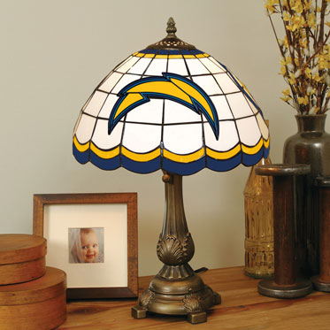 San Diego Chargers Nfl Stained Glass Tiffany Table Lamp