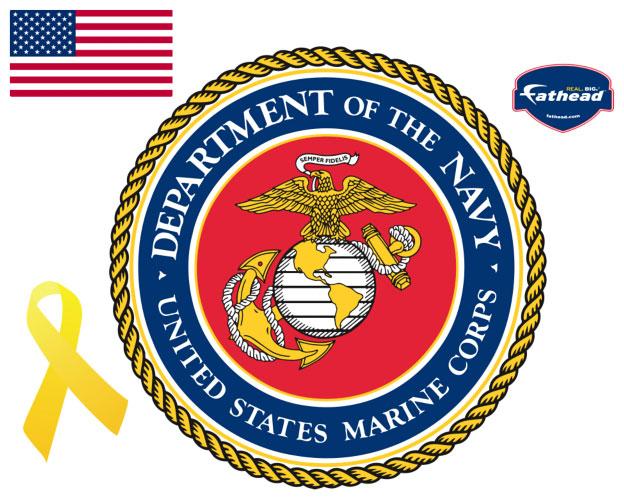 Marine Insignia Fathead Military Wall Graphic