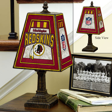 Washington Redskins Nfl Art Glass Table Lamp
