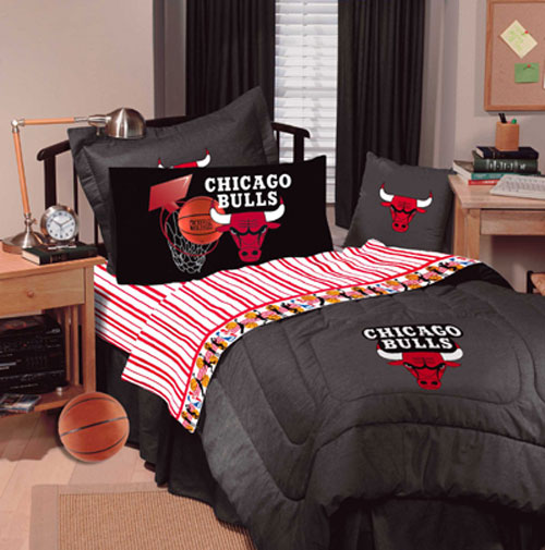 Chicago Bulls Nba Queen Sheet Set