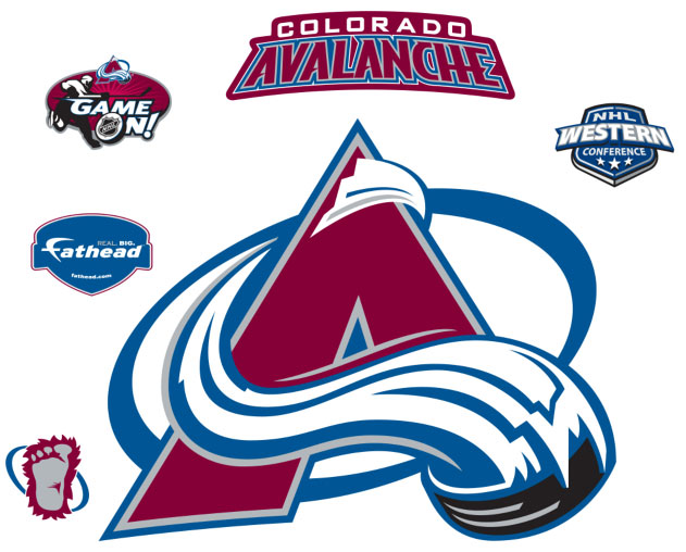 Colorado Avalanche Logo Fathead Nhl Wall Graphic