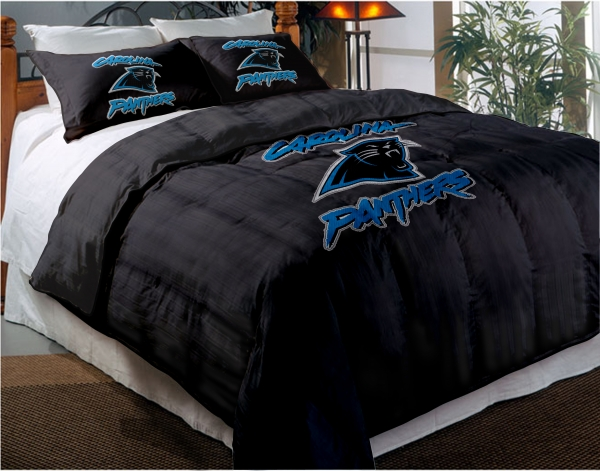 Carolina Panthers Nfl Twin Chenille Embroidered Comforter