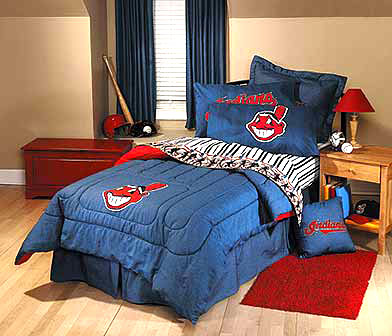 Cleveland Indians Team Denim Queen Size Comforter
