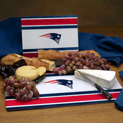 New England Patriots Nfl Glass Cutting Board Set