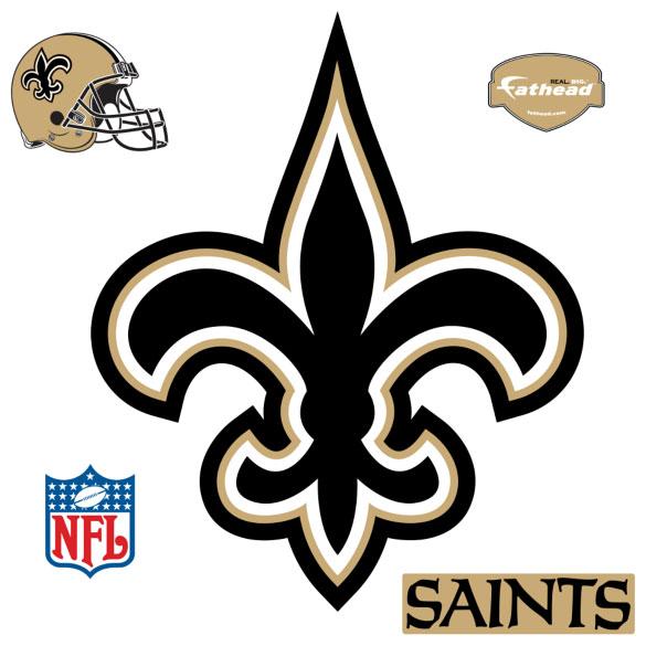 New Orleans Saints Logo Fathead Nfl Wall Graphic