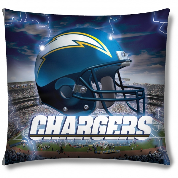 "San Diego Chargers Bedding: San Diego Chargers NFL 18"" Photo-Real Pillow"