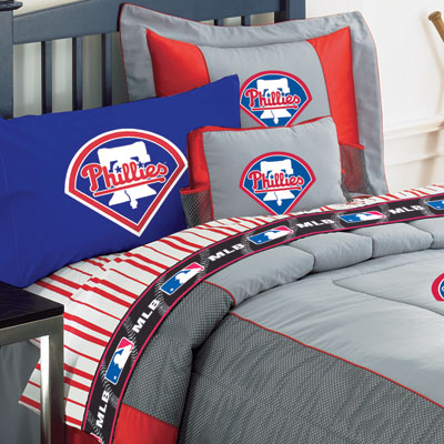 Twin Size Bedding on Philadelphia Phillies Twin Size Sheets Set Under Mlb Bedding Room