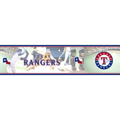Texas Rangers Mlb Wall Border