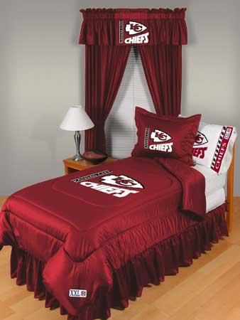 Kansas City Chiefs Locker Room Comforter Sheet Set