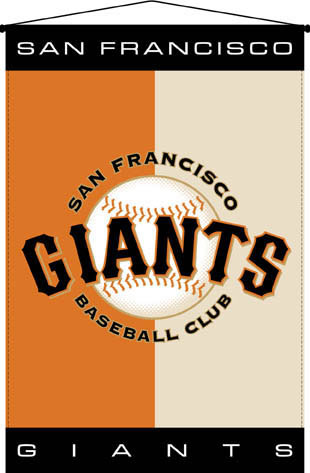 San francisco giants 29 x 45 deluxe wallhanging - Sf giants wallpaper border ...