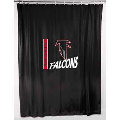 Atlanta Falcons Locker Room Shower Curtain Zoom