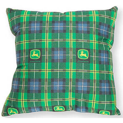 John Deere Plaid Pillow