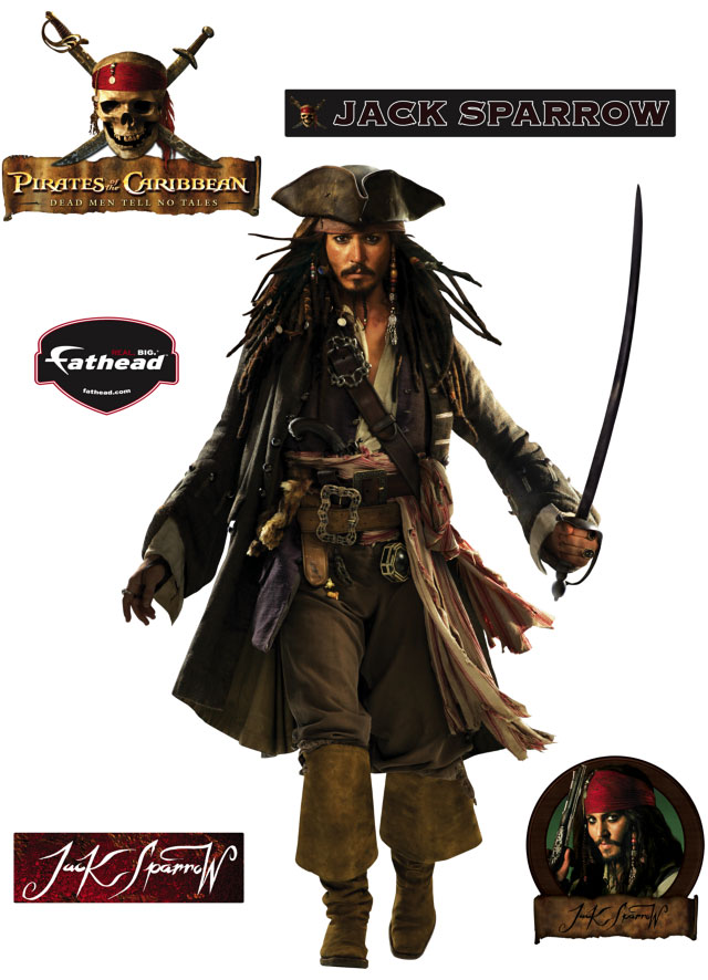 Pirates Of The Caribbean S Jack Sparrow Fathead Disney Wall Graphic