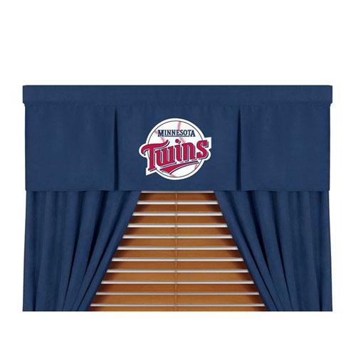 Minnesota Twins Mlb Microsuede Window Valance