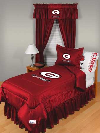Uga Georgia Bulldogs Locker Room Comforter Sheet Set