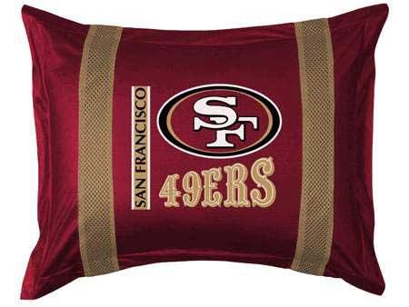 San francisco 49ers side lines pillow sham for 49ers room decor