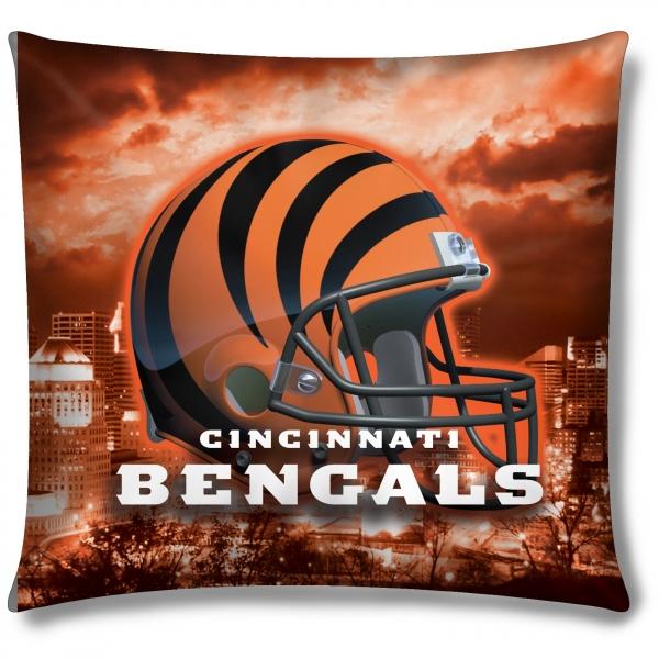 Cincinnati bengals nfl 18 photo real pillow for Bengals bedroom ideas
