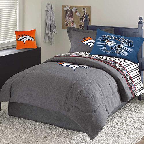 Denver Broncos Nfl Team Denim Full Comforter Sheet Set