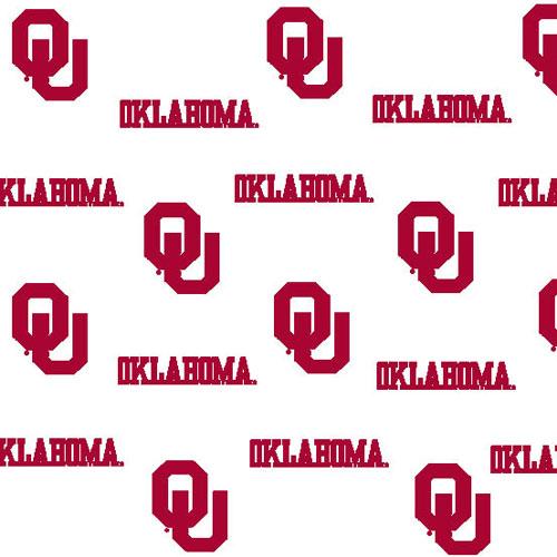 Oklahoma Sooners Crib Bumpers White
