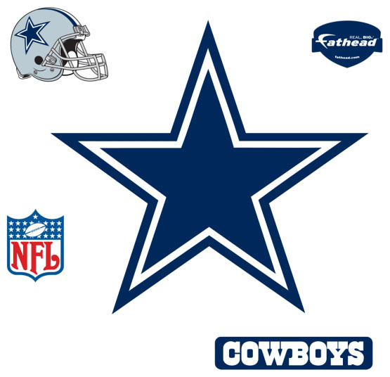 Dallas Cowboys Logo Fathead Nfl Wall Graphic