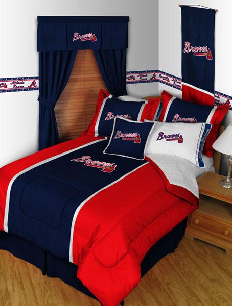 Atlanta Braves Mlb Microsuede Comforter Sheet Set