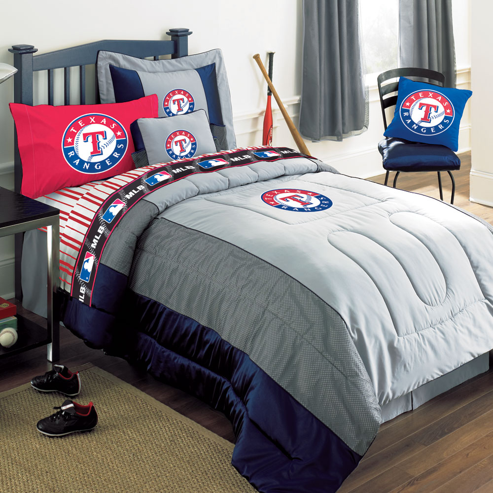 texas rangers mlb authentic team jersey bedding twin size