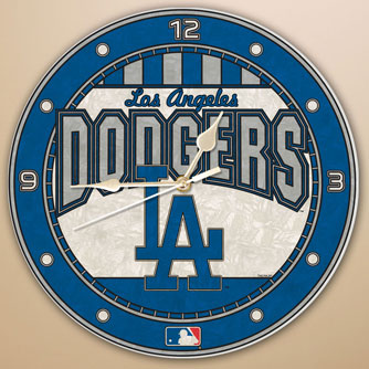 Los Angeles Dodgers Mlb 12 Quot Round Art Glass Wall Clock