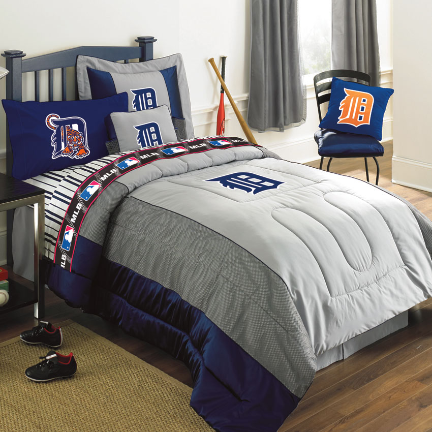 detroit tigers mlb authentic team jersey bedding queen size comforter